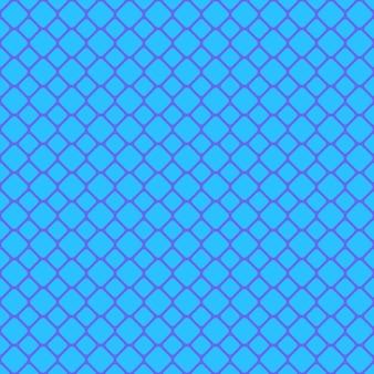 青いシームレスな丸い四角い格子パターンの背景 - ベクトルグラフィック