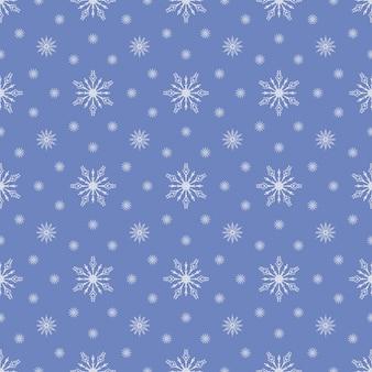Blue seamless snowflake pattern