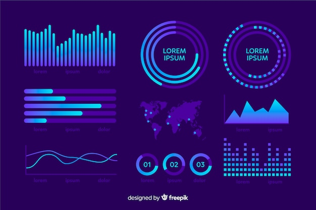 Blue set dashboard collection template