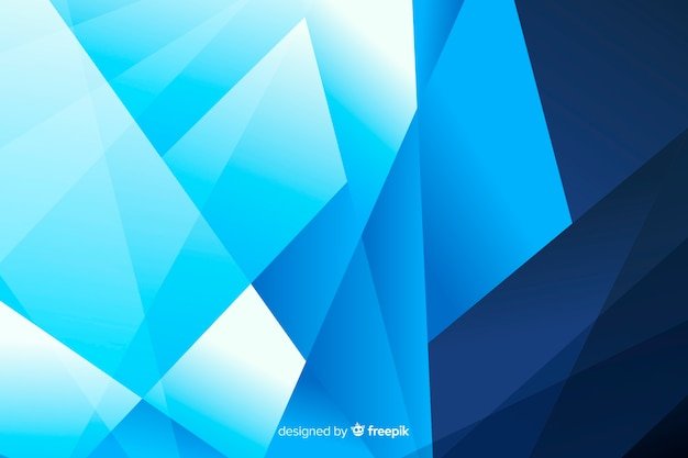 Blue shade shapes abstract background