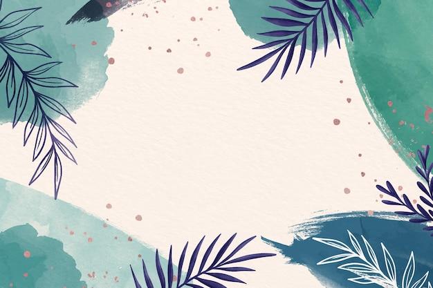 복사 공간의 푸른 음영 나뭇잎 배경