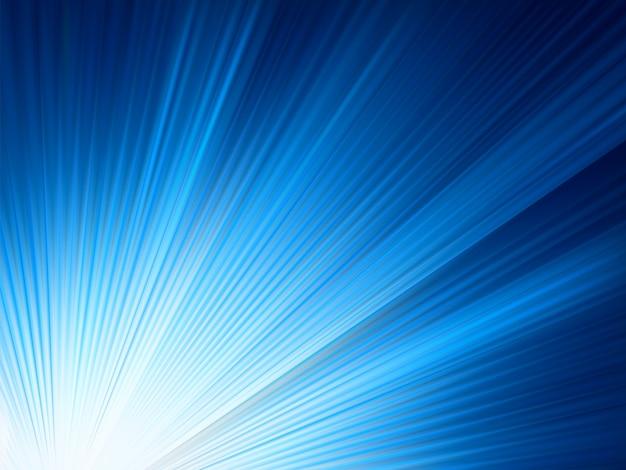 青色に輝く光線。