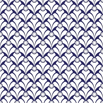 Blue simple art deco wave pattern