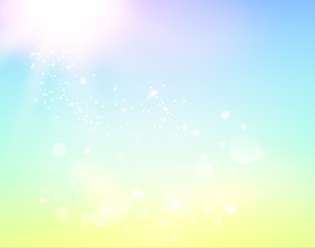 Голубое небо и абстрактный светлый фон.