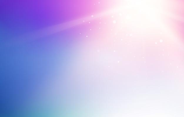 青い空と抽象的な光のフラッシュの背景。