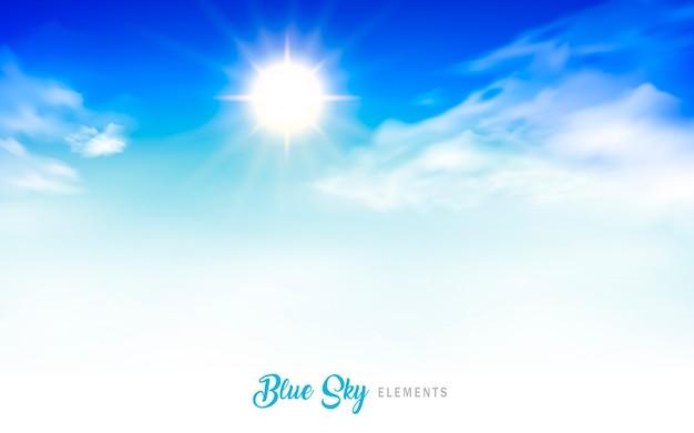Blue sky background illustration