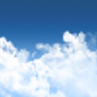 白い雲と青空の背景