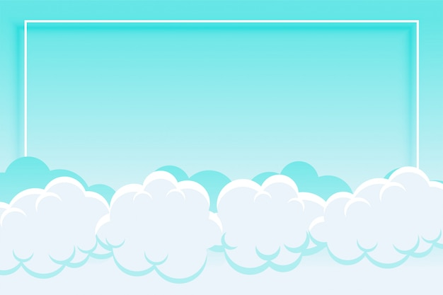 Blue sky and clouds background with text space