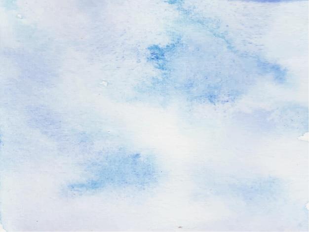 青い空の水彩画の背景。紙のテクスチャと抽象的なペイントテンプレート。