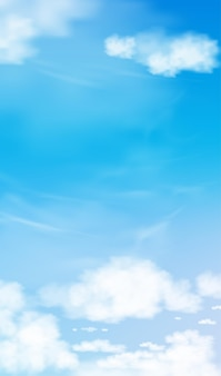 Blue sky with altostratus clouds background