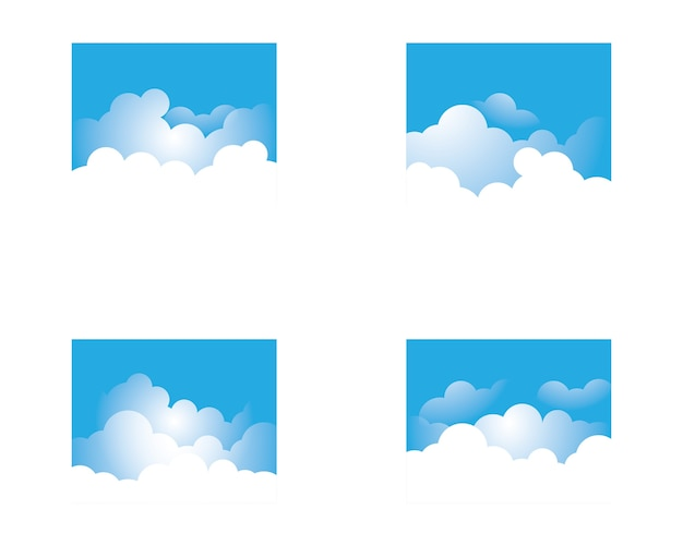 Blue sky with cloud icon illustration design