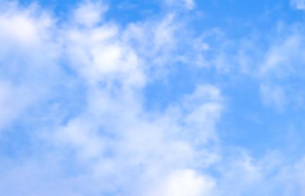 Голубое небо с облаками. реалистичное облачное небо