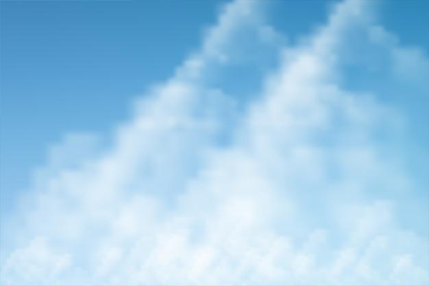白い雲の背景と青い空
