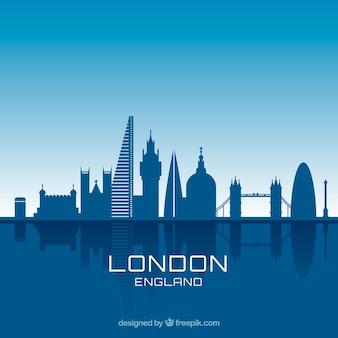 Blue skyline design of london