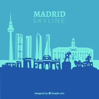 Skyline blu di madrid