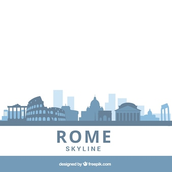 Blue skyline of rome
