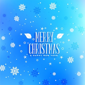 Blue snowflakes christmas festival greeting