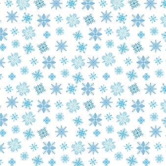 白い青い雪片