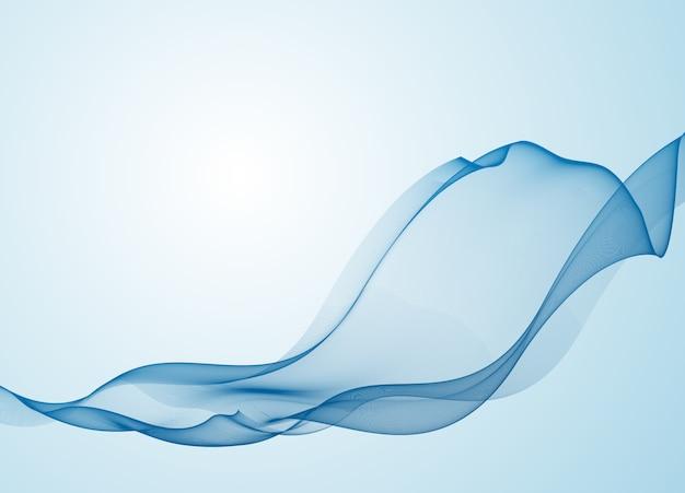 Blue soft line design with copy space