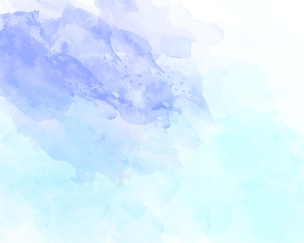 Blue soft watercolor abstract texture.