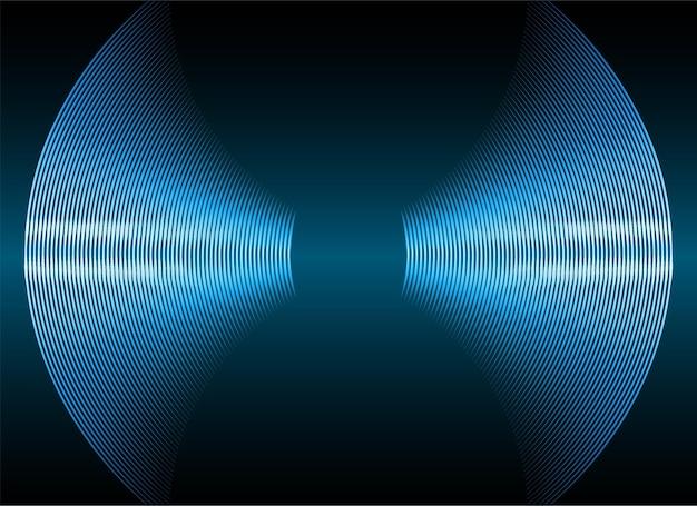 어두운 빛을 진동시키는 푸른 음파