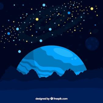 Sfondo di spazio blu spazio
