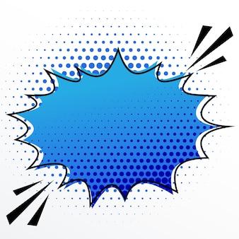 ハーフトーン効果で空白の漫画の音声バースト泡