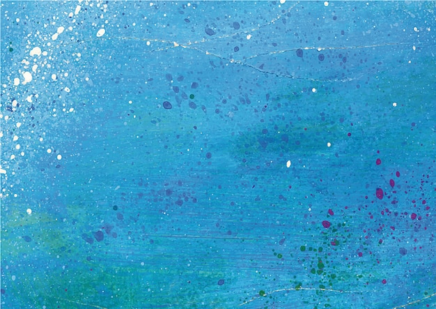Blue splattered paint background