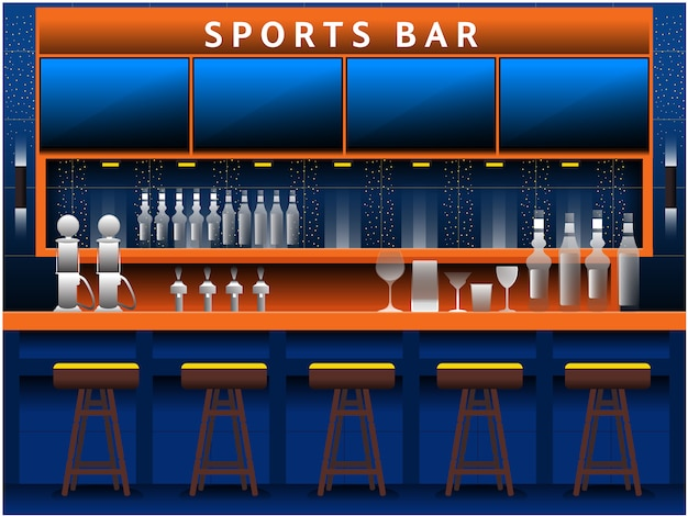 Blue sports bar background