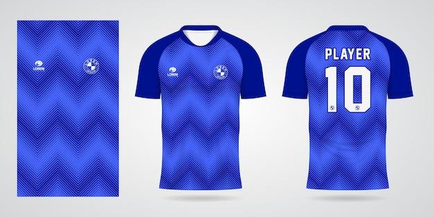 팀 유니폼 및 축구 티셔츠 디자인을 위한 파란색 스포츠 저지 템플릿