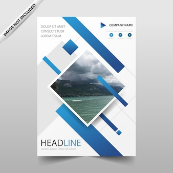Blue square annual report leaflet brochure