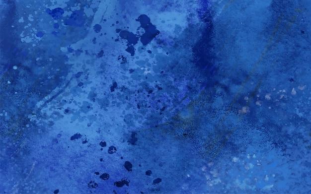 青い汚れと水彩の滴