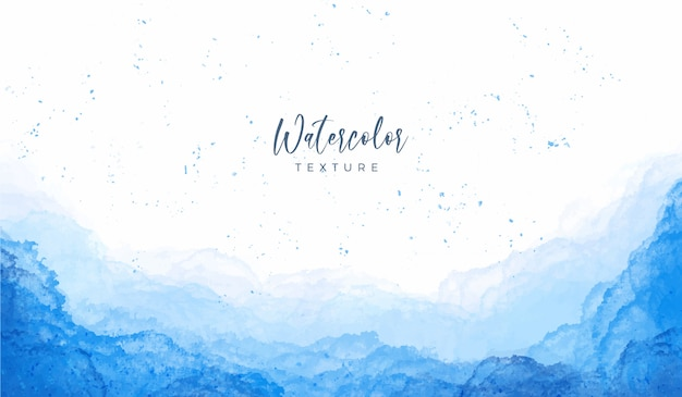 Blue stains watercolor background
