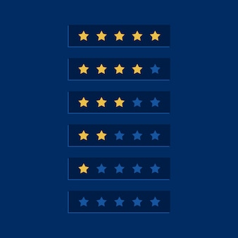 Blue star rating symbol design