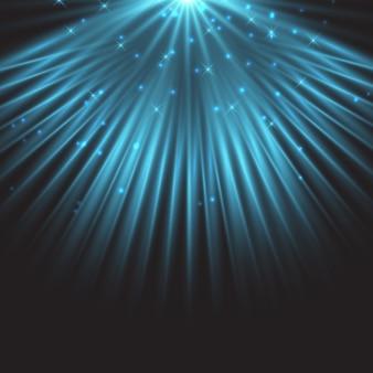 Голубая звезда прожектор фон
