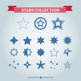 Blue stars collection