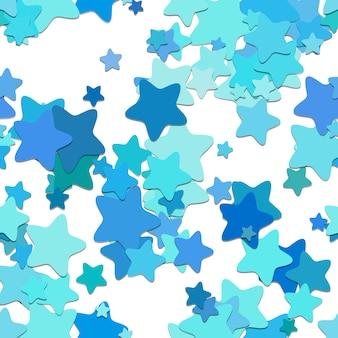 青い星のパターンの背景