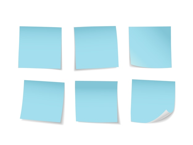 Blue sticky notes set