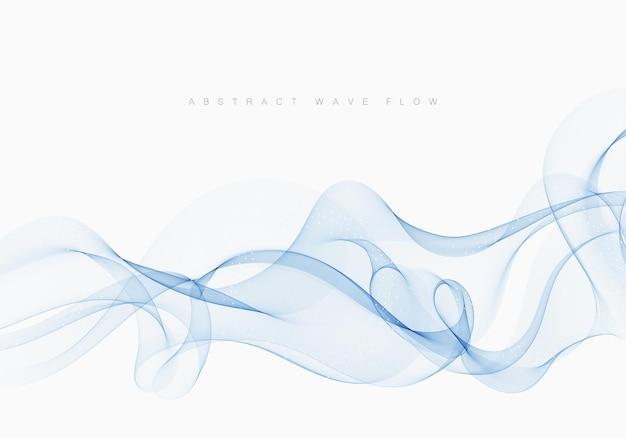 Голубой поток прозрачная волна дыма абстрактный фон элемент дизайна вектор