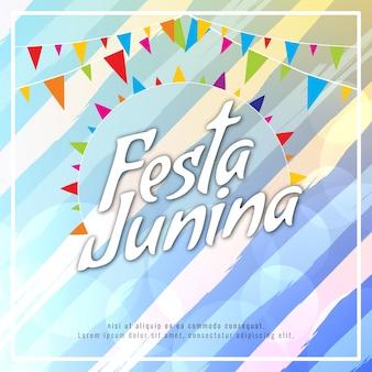 Blue striped festa junina design