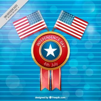 アメリカ合衆国旗と青のストライプの背景
