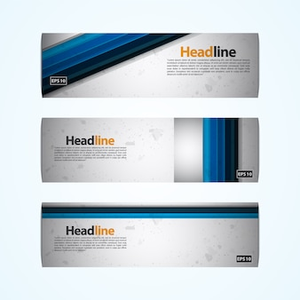 Blue stripes banner design