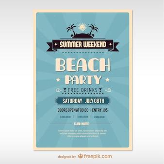 파란 여름 해변 파티