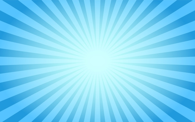 Blue sunburst abstract vintage background.