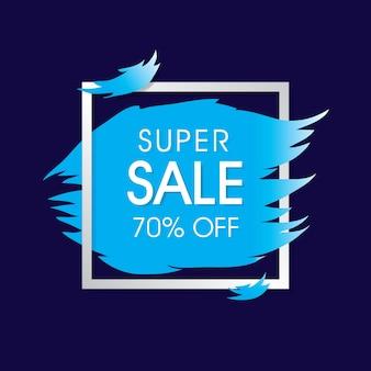 Blue super sale template design