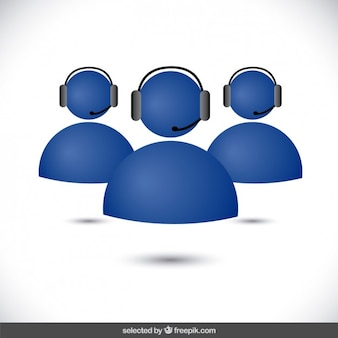 Blue support avatars