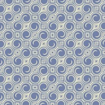 Blue swirls and rhombus