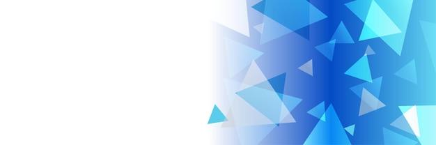 青白の三角形と青の技術未来技術ウェブ抽象技術バナーの背景