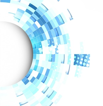 Blue technological background with abstract geometric shapes
