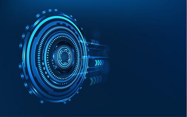 青い技術の抽象的な背景